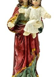 Virgin-Mary-Madonna-Baby-Jesus-Figure-Hand-Painted-Resin-Statue-Holy-Land-51-0