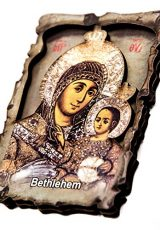 Virgin-Mary-Of-Bethlehem-with-Baby-Jesus-Wooden-Magnet-Holy-Land-Souvenir-3-0
