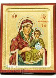 Virgin-Mary-With-Baby-Jesus-Byzantine-Wood-Icon-Handmade-Christian-Icona-51-0