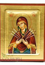 Virgin-Mary-of-Seven-Swords-Byzantine-Wood-Icon-Handmade-Christian-Icona-67-0