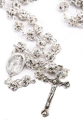 White-Zircon-Crystals-Beads-Rosary-Catholic-Necklace-Miraculous-Medal-Crucifix-0-1