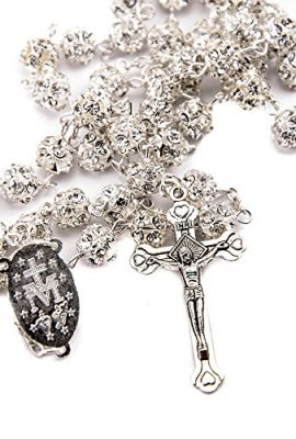 White-Zircon-Crystals-Beads-Rosary-Catholic-Necklace-Miraculous-Medal-Crucifix-0-2