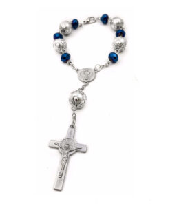Saint Benedict Deep Blue Beads