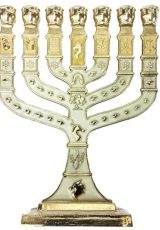 Golden-Menorah-7-Branch-12-Tribes-Of-Israel-Jerusalem-Menora-White-Enamel-47-0