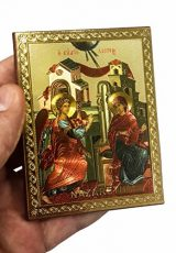 Annunciation-of-Blessed-Mary-Russian-Icon-Plaque-Blessed-Jerusalem-Souvenir-37-0