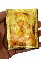 Blessed-Mary-Baby-Jesus-Russian-Icon-Plaque-Blessed-Jerusalem-Souvenir-37-0