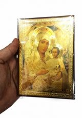 Blessed-Mary-Baby-Jesus-Russian-Icon-Plaque-Blessed-Jerusalem-Souvenir-57-0