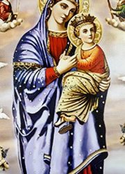 Mary-Madonna-Baby-Jesus-Heaven-Angels-Plaque-Padded-Wall-Hanging-Painting-114-0-0