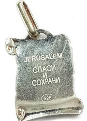 VIRGIN-MARY-WITH-INFANT-JESUS-SCROLL-PENDANT-SILVER-925-RUSSIAN-BLESS-PROTECT-0-0