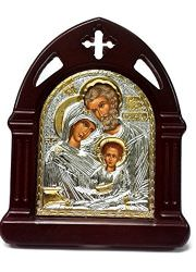 Holy-Family-Wooden-Carved-Icon-SILVER-Plated-Handmade-Christian-JERUSALEM-6-0-0