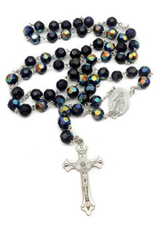 Deep Blue Rosary Crystal Beads