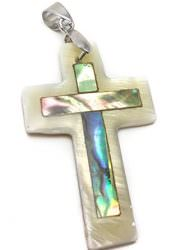 Small-Catholic-Mother-Of-Pearl-Shell-Crucifix-Pendant-Handmade-Cross-Jerusalem-0-0