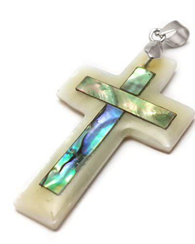 Small-Catholic-Mother-Of-Pearl-Shell-Crucifix-Pendant-Handmade-Cross-Jerusalem-0