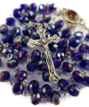 Purple Blue Beads Rosary