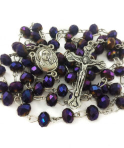 Deep Purple Beads Rosary Catholic Necklace Holy