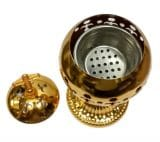 Gold Censer Polished Brass Jerusalem Church Incense Burner Distiller