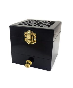 Wood Box Incense Burner