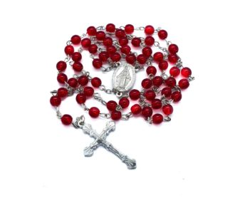 Red beads rosary