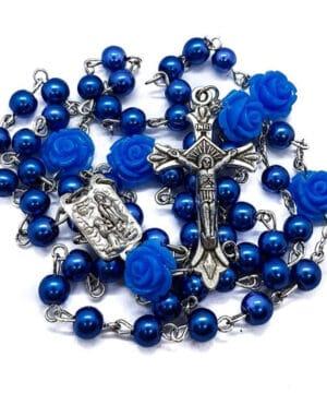 Catholic Blue Pearl Beads
