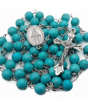 Marble Turquoise Beads Rosary