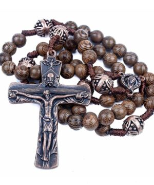 Our Father Wood Rosary Beads