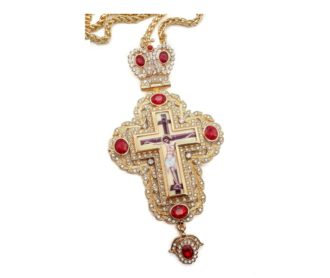 Pectoral cross red crystals