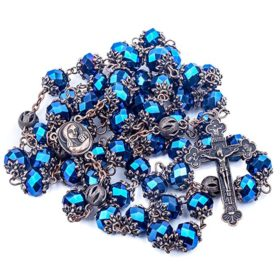 Deep blue rosary antique