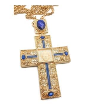 Pectoral Cross Jesus Face Crucifix Pendant
