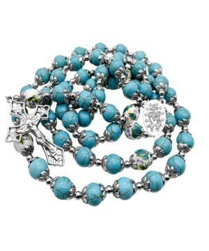 Turquoise Marble Beads Rosary