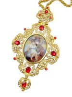 Pectoral Cross Virgin Mary and Jesus Icon