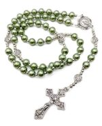 Green Pearl Beads Rosary