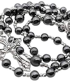 Hematite Rosary Black Stone Beads