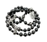 Black Hematite Rosary Beads