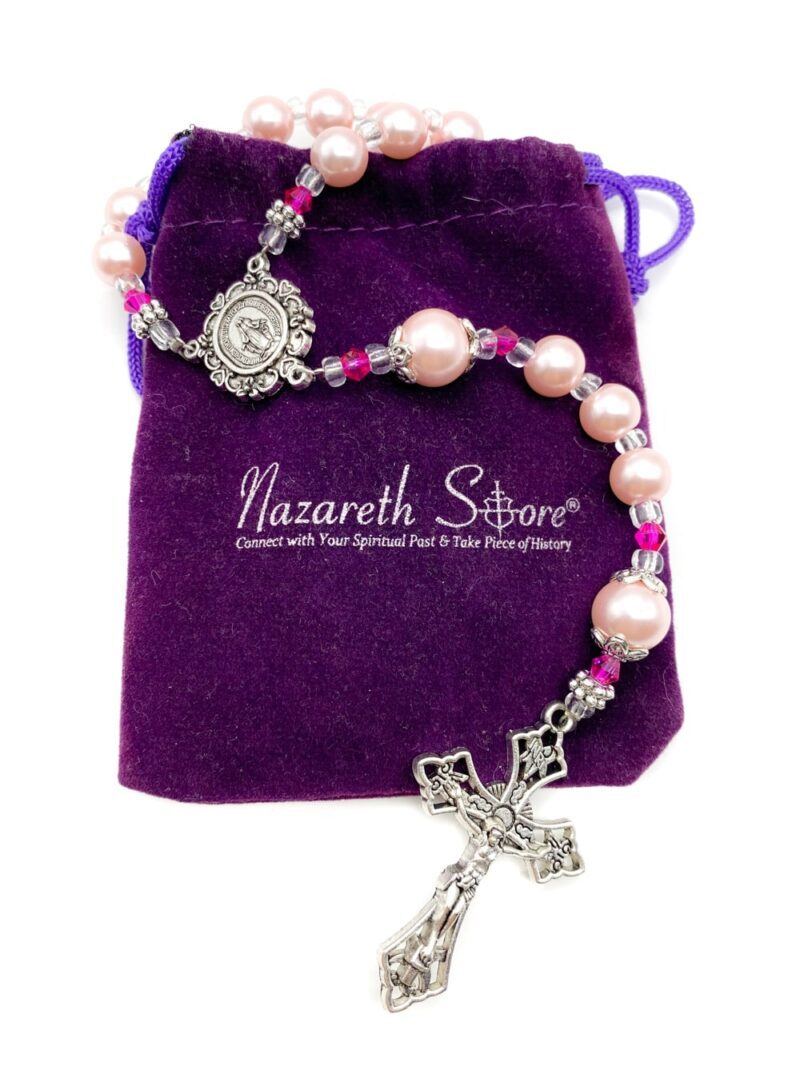 Pink Pearl Beads Rosary