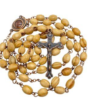 Vintage Olive Wood Beads Rosary