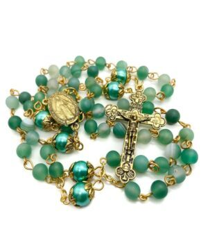 Green Matte Beads Rosary