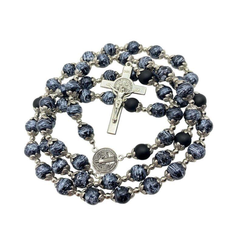 St Benedict Rosary Black