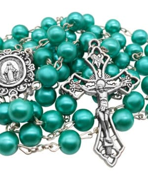 Turquoise Pearl Beads Rosary