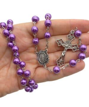 Purple Rosary Beads Catholic Rosario