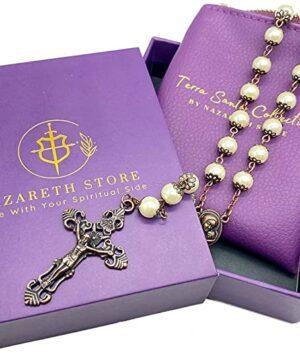 Cream Pearl Rosary Beads