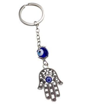 Evil Eye Keychain Charm Hamsa Hand