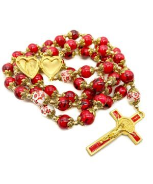 Red Saint Benedict Rosary