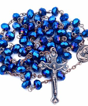 Antique Design Blue Crystal Beads Rosary